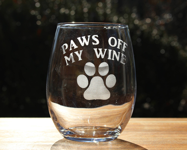 wine glass for dog moms
