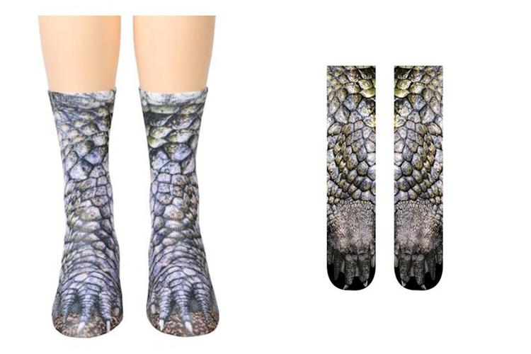 socks that look like alligator feet
