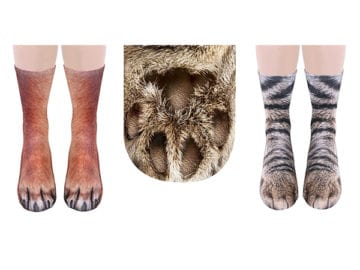 socks that look like animal feet