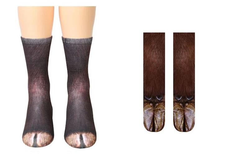 socks that look like goat feet