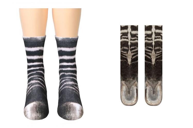 zebra feet socks
