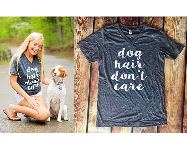 dog hair don't care t-shirt dog mom gift